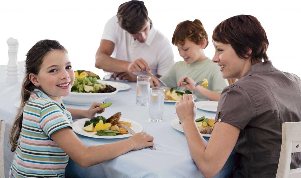 repas du soir famille